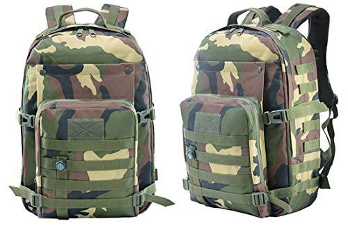 Taktische Rucksack-Camouflage Rucksack 3P Attack Rucksack Wander Tasche Männer Outdoor-Sport Rucksack 40L,Junglecamouflage