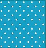 i.stHOME Klebefolie - Möbelfolie - Dots hellblau Punkte 45 x 200 cm - Dekorfolie Muster Vintage Retro, Bastelfolie - Selbstklebende Folie