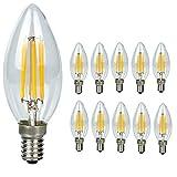 10er Pack E14 C35 LED Lampe E14 Retrofit Classic, 40W Entspricht Glühlampe, 400LM, Klar, Nicht Dimmbar,Warmweiß 2700K, E27 Retrofit Classic, LED Birne als Kolbenlampe
