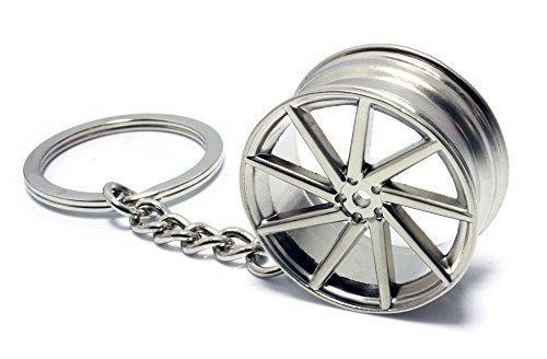 CVT Felge Schlüsselanhänger - massiver Anhänger - OEM VAGinas DUB (matt Silber)