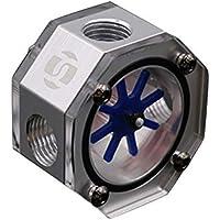 YGQersh Octagon Aluminio PC Refrigeración líquida Tanque de Agua Refrigeración por Agua Medidor de Flujo Enfriador