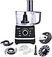 Inalsa Food Processor Easy Prep-800W with Processing Bowl & 7 Accessories,(Bl