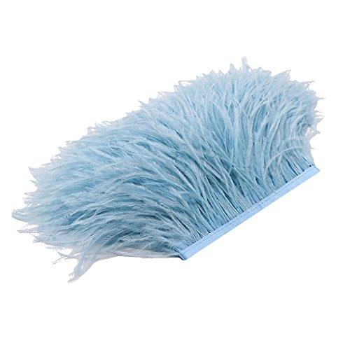 Stoffstreifen Schmuckfedern für die Bekleidung, Kostüme, Hüte - Hellblau ()