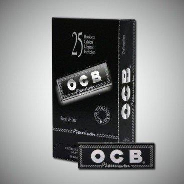 25 x carta di rotolamento OCB Premium Black 1 1/4 - 78mm