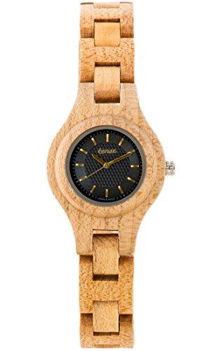 TENSE//Die Holzuhr - Womens Pacific made in Canada Ahornholz - beige - Damen-Uhr - Holz-Uhr L7509M-BG