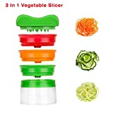 Idefair (TM) 3 Blades Hand Held Vegetable Spiralizer, Spiral Slicer Creates Endless Spaghetti