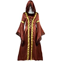 Prettycos- Traje Medieval Disfraz de Princesa Reina Medieval para Mujer Vestido Gotico Medieval