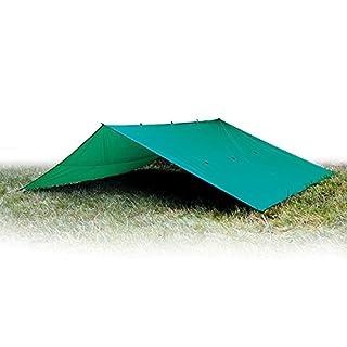 Aqua Quest Guide Sil Tarp - 100% Wasserdicht und Ultraleichtes Ripstop-Nylon Material - Kompakt, Vielseitig, Langlebig - Backpacking Plane - 6 x 4 m XXL - Grün