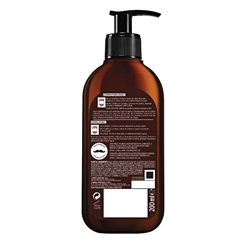 L Oréal Paris Men Expert Barber Club Champú 3 en 1,  para Barba,  Cabello y Rostro,  200 ml,  Pack de 2