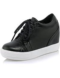 SHOWHOW Damen Modisch Mittler Absatz Durchgängiges Plateau Runde Zehen Sneakers Braun 40 EU E6GcdbGf0