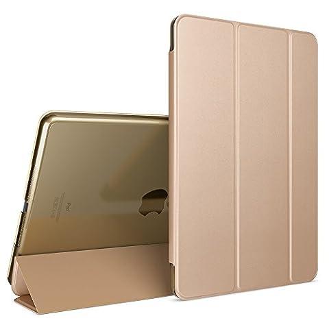 Apple iPad Pro 2 3 4 Coque de Protection de NICA, Housse Etui Ultra-Fine avec Multi Angles Tir-Fold Stand PU Cuir Vegan, Slim-Fit Smart-Case Tablet Portable Cover Mince Bumper, Couleur:Gold Or