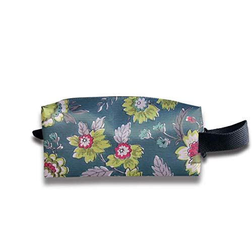 Makeup Cosmetic Bag Artistic Floral Decorative Painting Travel Make-Up Bags Pen Case Portable Storage Multi Pack In Womens Avon