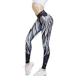 Mujer ala impresa yoga pantalones 64b7646ba86fe