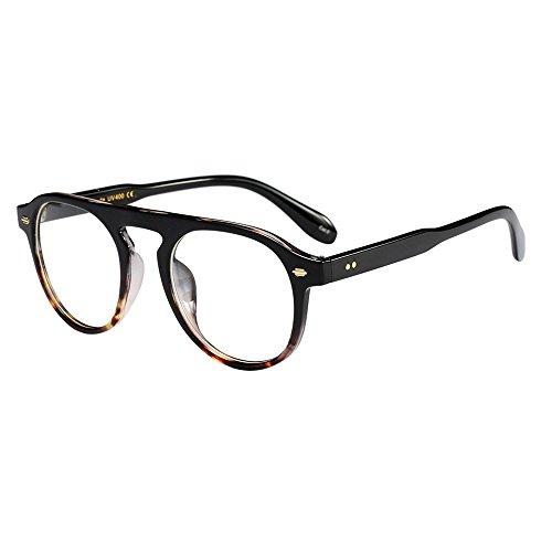 QinMM Unisex UV400 Mode Polarisiert Sonnenbrille, Frauen Mann Vintage Cat Eye Ovale Form Großer Rahmen Sonnenbrille Eyewear Retro