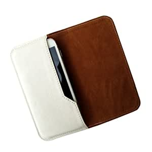 i-KitPit : PU Leather Flip Pouch Case Cover For iPhone 5 / 5S (WHITE)