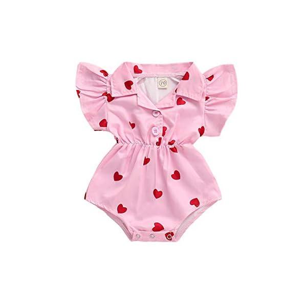 MAYOGO Monos para Bebé Niñas Verano Recién Nacidos 2019 Pelele Conjuntos Bodies Bebe Niñas Manga Corta Bautiz Mameluco… 3