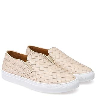 Abro Damen Geflochtene Slip-on Sneaker Beige, Größe 41