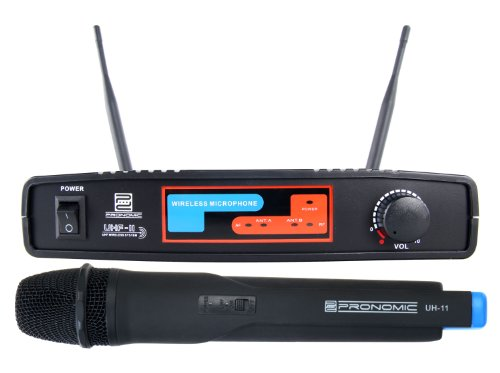 Pronomic UHF-11 Funk-Bühnenmikrofon UHF-Funkmikrofon-Set 864,35 MHz (Handmikrofon, XLR-Mikrofon-Ausgang, 1-Kanal) schwarz