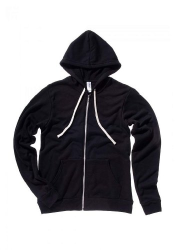 Unisex Triblend Sponge Fleece Full-Zip Hoodie SOLID BLK TRBLND 2XL (Solid Unisex T-shirt)