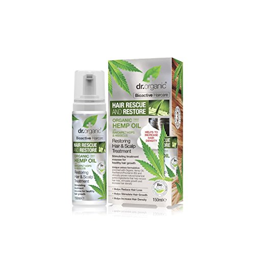 Dr Organic Haarpflege Hemp Oil 150 ml, Preis/100 ml: 11.33 EUR - Hanf Kopfhaut Behandlung