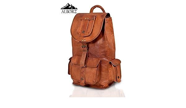 ALBORZ Leather Backpack Rucksack Shoulder Bag  Amazon.in  Bags ... b25a134139c48