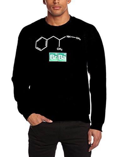 Coole Fun T-shirts felpa uomo Breaking Bad - Heisenberg Original Formula BR BA nero L