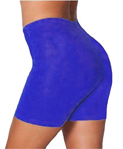 Mesdames coton élasthanne danse Cuissard EUR Taille 36-50 Bleu royal