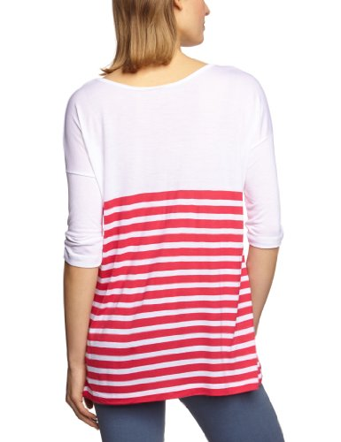 Vero Moda - Chemise - Manches 3/4 Femme Multicolore (Opt.White / Stripes:Raspberry)