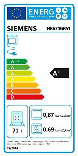 Siemens iQ700 HB674GBS1 Backofen A+ (3.6 kW, 4D Heißluft, Ober-/Unterhitze, Edelstahl) Titan-Glanzemail anthrazit - 2