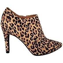 Gennia MALISO - Zapatos Botines de Mujer con Tacon de Aguja 9 cm y Punta Fina