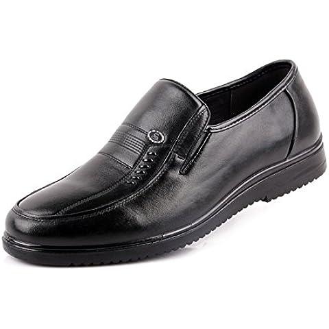 Zapatos de cuero ocasionales de los hombres de cuero/Zapatos de fondo suave/Medias y zapatos de los hombres viejos/Zapato padre zapatos