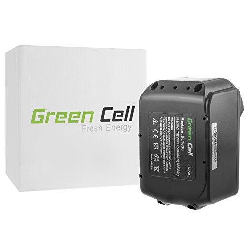 Preisvergleich Produktbild Green Cell® Elektrowerkzeug Akku für Makita DUR182LZ (Panasonic Li-Ion Zellen 7500 mAh 18V)