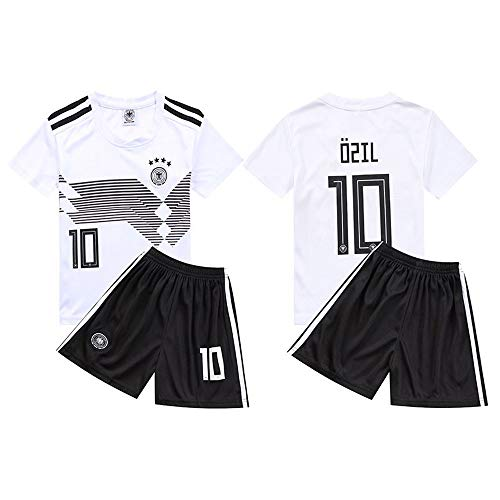 ds's Football Wear Jersey Sets Arsenal Football Club NO.10 Sportswear White T-Shirt Shorts Sports Clothing Fans Clothes(16-28) ()