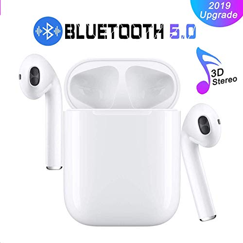Cuffie Bluetooth, Wireless 5.0 Auricolari Bluetooth IPX7 impermeabili Cuffie audio 3D Surround Cuffie sportive Microfono incorporato Cuffie intrauricolari per IOS Apple Airpods Android