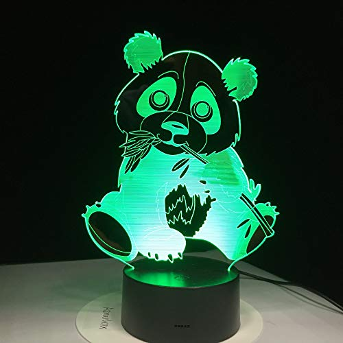 wangZJ 3d Illusion Lamp / 7 Changing Colors Touch Night Light/Baby Camera da letto Decorazione/Dormire Illuminazione/Compleanno giocattolo/Bamboo P