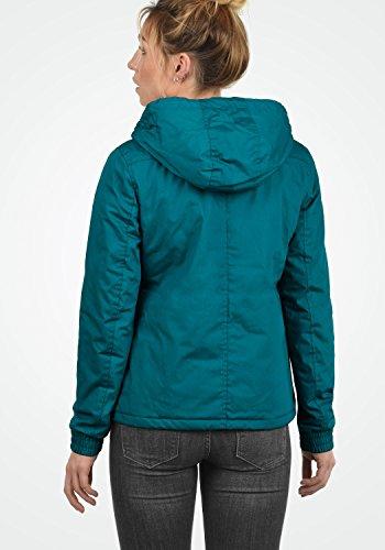DESIRES Tilda Damen Übergangsjacke Jacke gefüttert mit Kapuze, Größe:XS, Farbe:Dark Petrol (1298) - 5