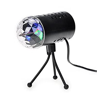 HotJack Rotating RGB LED 3D Effect Stage Light Party DJ Disco Lamp Dance Xmas New Year Home Party Clubbing