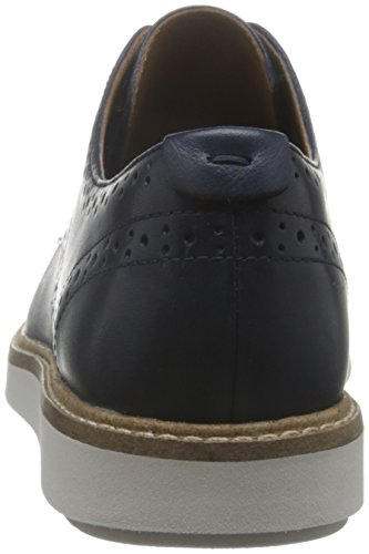 Clarks Glick Shine, Scarpe Stringate Basse Oxford Donna Blu (Navy Leather)