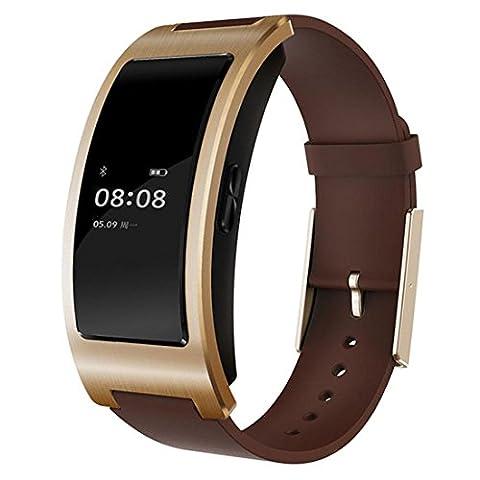 Joyeer Montre intelligente activité Tracker artérielle fréquence cardiaque moniteur Wrist Watch sommeil moniteur Bracelet Intelligent podomètre Fitness bracelet pour téléphone Android IOS , gold