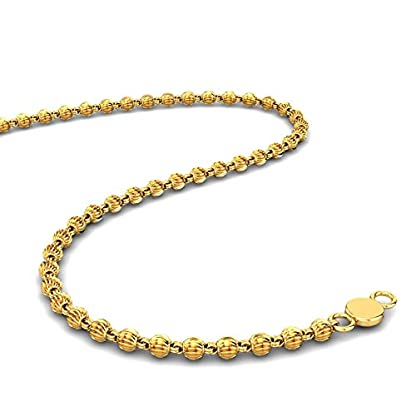 Candere By Kalyan Jewellers Contemporary Collection 22k Yellow Gold Isabella Chain Necklace for Women