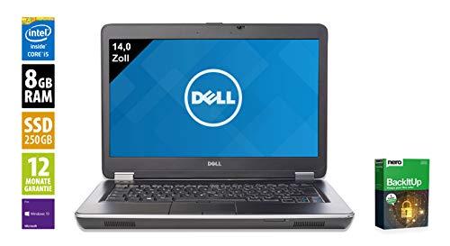 Dell Latitude E6440 | Notebook | Laptop | 14,0 Zoll (1600x900) | Intel Core i5-4300M @ 2,6 GHz | 8GB DDR3 RAM | 250GB SSD | DVD-Brenner | Windows 10 Pro (Zertifiziert und Generalüberholt)