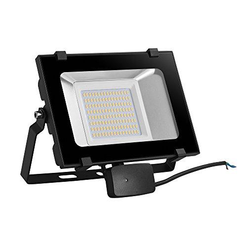 Viugreum® 50W 6000 LM Scheinwerfer, LED-Bewegungs-Sensor, Im Freien, Wasserdicht , Energiesparen mit niedriger Verbrauch, Scheinwerfer geeignet für das Garage und der Garten, Warmweißes Licht