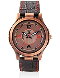 Teesort Analog Watch With Leather Strap WATCH-107