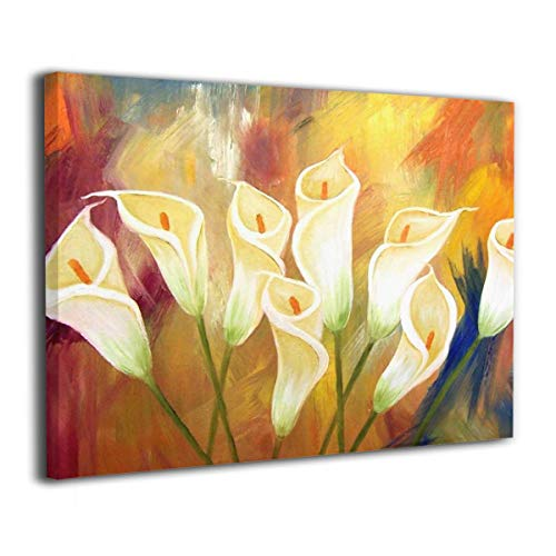 f81e124b6e7 ChunWeiD Flower Painting Painted Canvas Prints Picture Painting for Home  Decorations Wall Art Decor Abstract Artwork