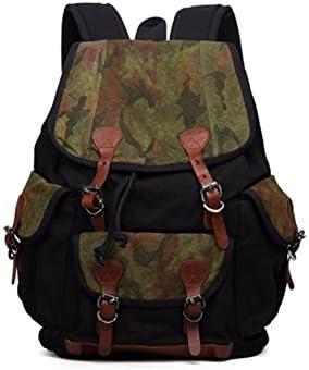 2d8305775e Nlne Outdoor tela Trend Cotton & linen spalla camouflage cuciture cuciture  cuciture Student Bags, Nero B07CYYL7DS Parent | Bella arte | Rifornimento  ...