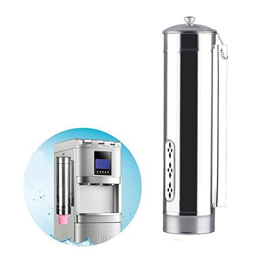 Dispensador de tazas automático, de acero inoxidable para montar en la pared, tipo tirador, soporte automático para taza de bebida de café segura, dispensador de vasos para papel desechable