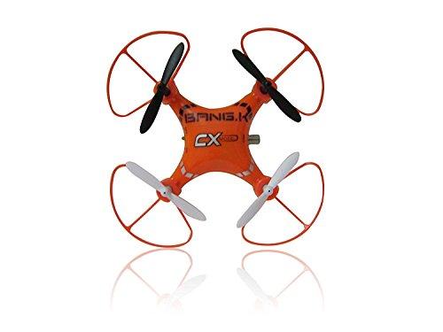 BangK CX-14 Mini 4CH 2.4GHz 6 Axis Gyro R/C RTF Helicopter, UFO Micro Quad Copter (Orange) (Rtf-mini-quad)