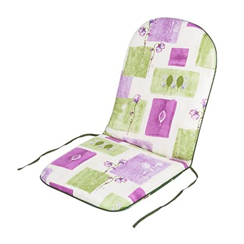 Alfresia Outdoor Garden Recliner Dining Chair Cushion - Reversible, Vintage Rachel Rose Pattern, High-Back, 46cm W x 102cm H