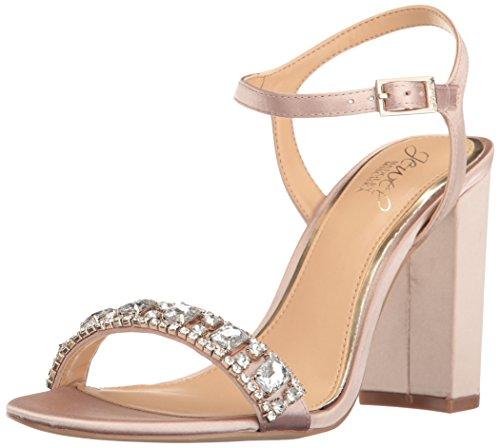 Badgley Mischka Damen Hendricks Sandalen mit Absatz, champagnerfarben, 40 EU Jewel Strap Sandal