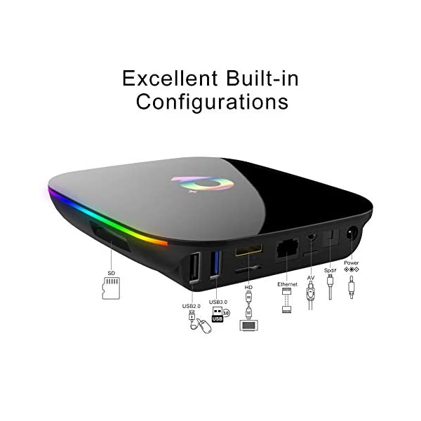 Android-TV-Box-Q-Plus-TV-Box-Android-90-with-2Go-RAM-16Go-ROM-H6-Quad-Core-cortex-A53-Processor-Smart-TV-Box-Supports-6K-Resolution-3D-24GHz-WiFi-10100M-Ethernet-USB-30-Media-Player